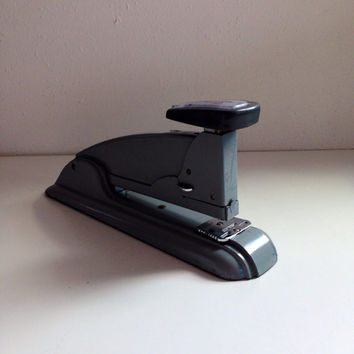 Swingline Speed Stapler Art Deco Design in Grey Great Industrial Decor