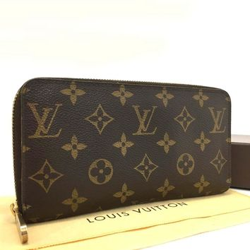 Authentic Louis Vuitton Monogram Zippy Zip Around Long Wallet purse /d770