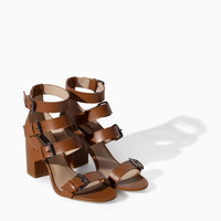 HIGH HEEL SANDAL WITH WIDE STRAPS