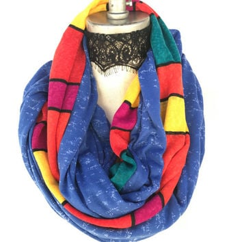 Colorblock color block scarf, chunky soft infinity scarves, Christmas stocking, Top selling shops items, Autumn gift ideas, gifting ideas,