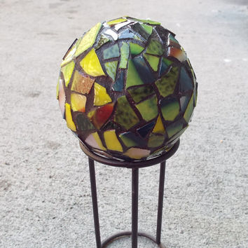 Mosaic Orb, Mosaic Ball, Gazing Ball, Crystal Ball, Home Decor, Romantic Decor