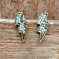 Lightning Bolt Earrings from Country Wind
