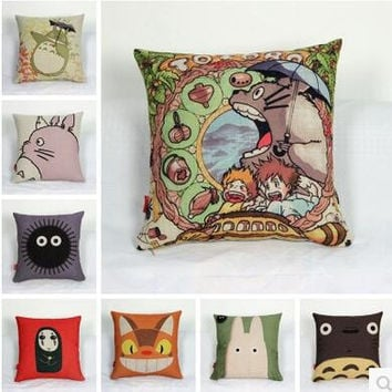 Pillow Case Totoro Pillowcase 2016 Japanese Pillow Case Cute Cartoon Animal Totoro Throw Pillow Case Cushion Cover Free Shipping