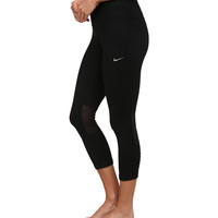 Nike Dri-FIT™ Epic Run Crop Black/Black/Reflective Silver - Zappos.com Free Shipping BOTH Ways