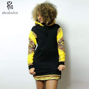 fashion African women dress black knitting stitching ankara fabric wax