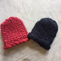 Chunky Chunky Thick Knit Hats