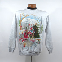 Ugly Christmas Sweater Vintage Sweatshirt Party Xmas Tacky Holiday size S