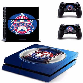 Texas Rangers: Vinyl Skin Decal for Sony PlayStation 4 Console and 2 controller skins