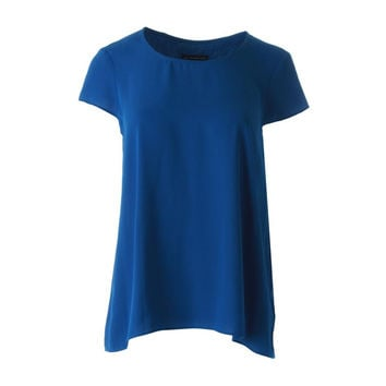 Adrianna Papell Womens Crepe Solid Pullover Top