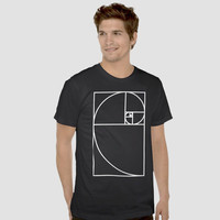 Golden Ratio T shirt, Sacred Geometry Clothing.