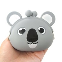 Cartoon Koala Bear Shaped Mimi Pochi Animal Friends Silicone Clasp Coin Purse Pouch