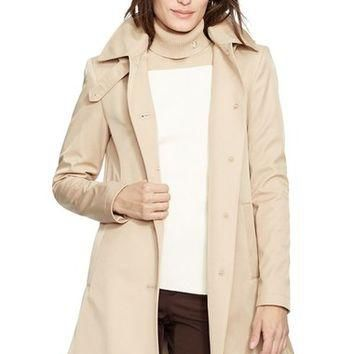 Lauren Ralph Lauren A-Line Raincoat (Regular & Petite) (Nordstrom Exclusive) | Nordstr