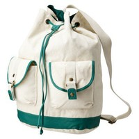 Mossimo Supply Co. Teal Canvas Drawstring Sling ... : Target