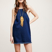 Free People Lace Up Back Denim Tunic