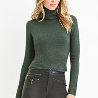 Textured Turtleneck Sweater