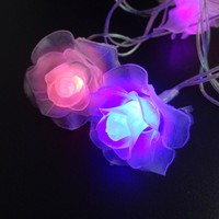LED String Lighting nightlight 4M 20Leds Rose Flower EU Plug Indoor Outdoor Party Wedding Christmas Fairy Decoration Light LM
