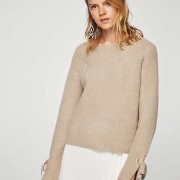 Bow textured sweater - Women | MANGO USA