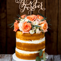 Wedding Cake Topper - Always and Forever - Birch