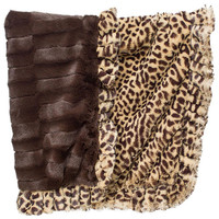 Legitimutt Cheetah Embossed Dog Cuddle Blanket