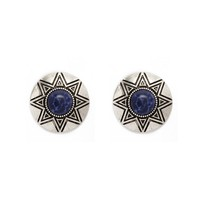 Etched Geo Faux Stone Studs
