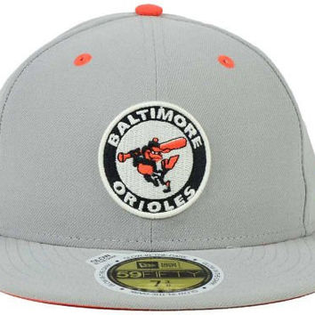 Size 7 1/4 Baltimore Orioles New Era Cooperstown Collection Speciality MLB Patch Out Fitted 59FIFTY Baseball Hat Cap