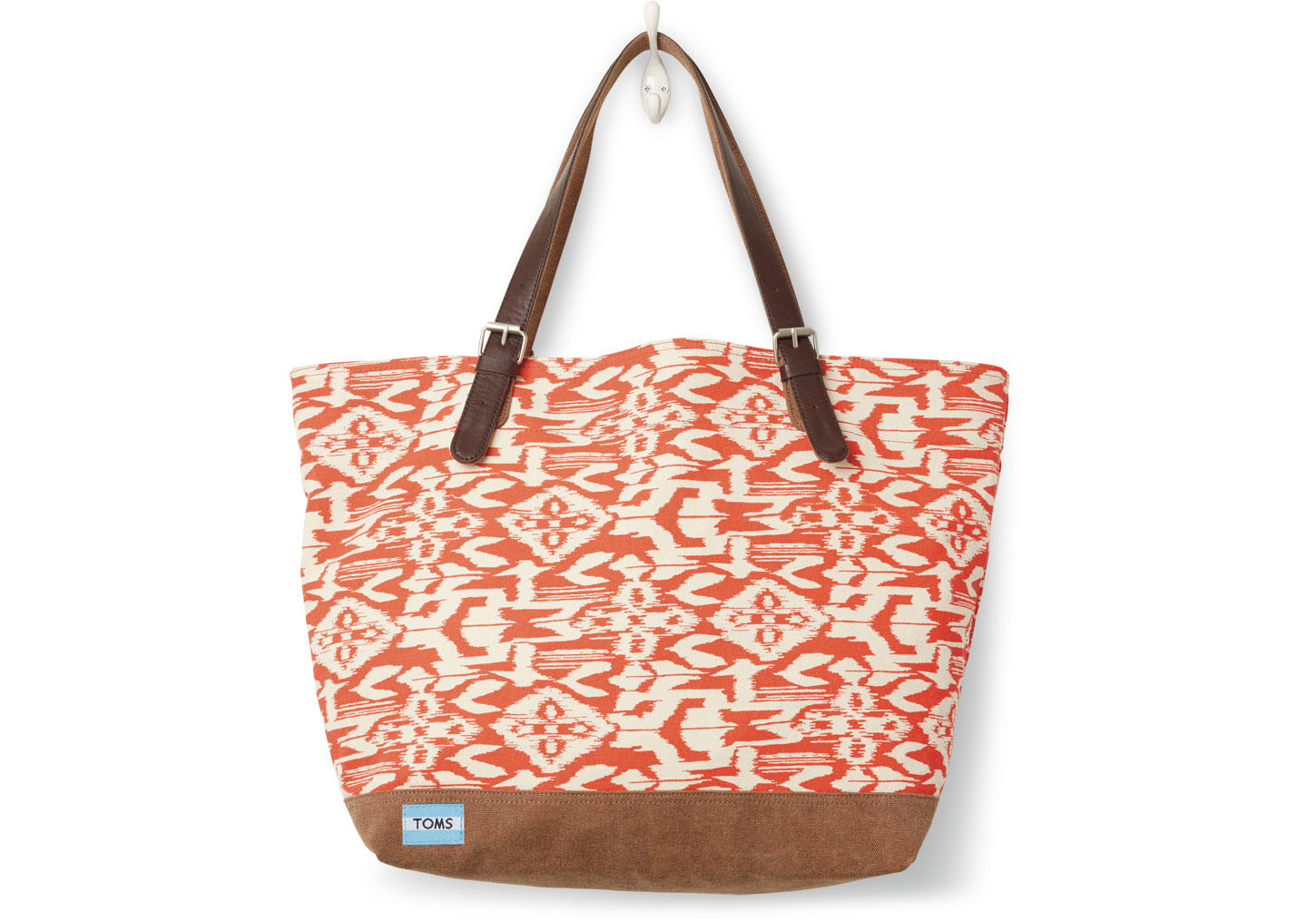 toms chili ikat canvas coastal tote bag from toms