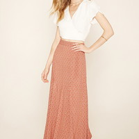 Contemporary Geo Print Maxi Skirt