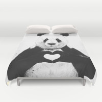 All you need is love Duvet Cover by Balazs Solti