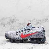 Nike Air Vapormax 2 Flyknit Grey Red Black Running Shoes - Best Deal Online