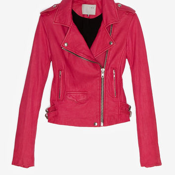 Ashville Biker Leather Jacket-From Pink to Poppy-FIRST LOOK AT SPRING 2013-What To Wear- IntermixOnline.com