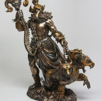 GREEK GOD OF UNDERWORLD HADES WITH CERBERUS STATUE PLUTO ROMAN OLYMPIAN by Pacific Giftware