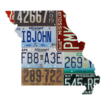 Missouri License Plate wall decal
