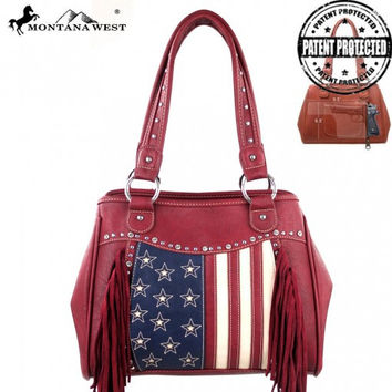 American Pride Fringe Montana West Purse