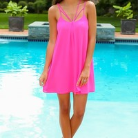 Life Is A Party Dress-Fuschia