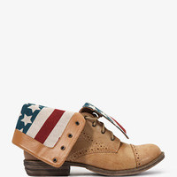 American Flag Lace-Up Boots