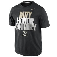 Nike Army Black Knights Duty, Honor, Country 2013 Local T-Shirt - Black