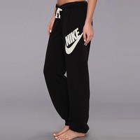NIKE Fashion Casual Women Men Drawstring Sport Running Gym Pants Trousers Sweatpants I