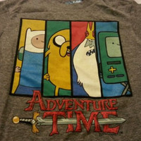 Boy Tee Shirt Sz XS 5 Old Navy Collectabilitees Gray Adventure Time Short Sleeve