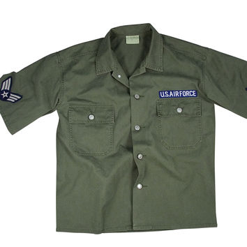 Vintage Army Air Force Short Sleeve BDU Shirt
