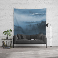 Mountains and fog. Wall Tapestry by vanessagf