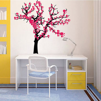 kcik196 Full Color Wall decal Sakura cherry tree pink children's bedroom
