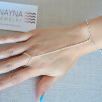Silver Hand Jewelry Bracelet Slave Boho Bohemian Gypsy Ring Connected Indian Chain Harem Bracelet Body Hand Chain Christmas New Years