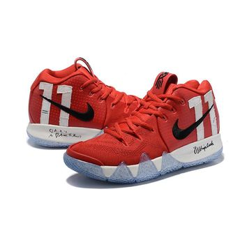 Nike Kyrie 4 PE Red White Black - Best Deal Online