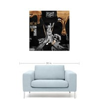 "Rich The Kid - Flexin On Purpose Mixtape Cover 20"" x 20"" Premium Canvas Gallery Wrap Home Wall Art Print"