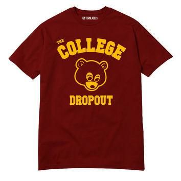 College Dropout T-Shirt Kanye West Bound Yeezy Yeezus GOOD Music Bape Hip Hop Swish So