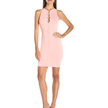 Guess Women's Sleeveless Mirage Bodycon Lace up Dress