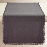 Oversized Gray Herringbone Table Runner - World Market