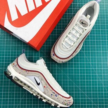 Nike Air Max 97 Paint Splatter Fashion Shoes - Best Online Sale 81b6c5464