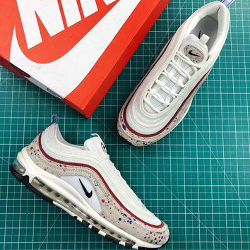 Nike Air Max 97 Paint Splatter Fashion Shoes - Best Online Sale 595193588