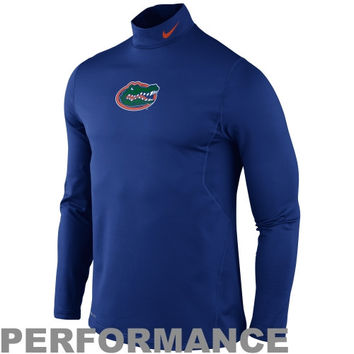 Nike Florida Gators Pro Combat Hyperwarm Long Sleeve T-Shirt - Royal Blue